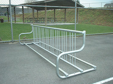 Park bike racks, picnic tables, and benches can be customized engraved as a memorial.