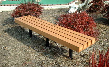 Park benches can be customized as a memorial.