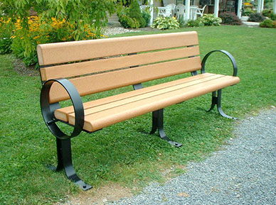 Park benches can be custom engraved as a memorial